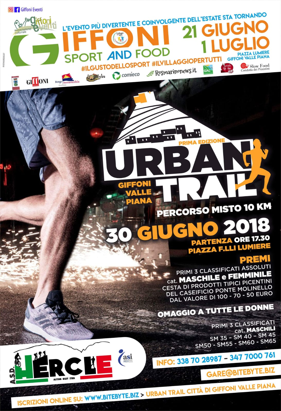 URBAN TRAIL CITTA DI GIFFONI VALLE PIANA